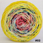 Knitcircus Yarns: Pippi Longstocking 150g Impressionist Gradient, Trampoline, choose your cake, ready to ship yarn