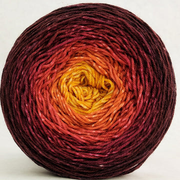 Knitcircus Yarns: Leaf Pile Leap 150g Panoramic Gradient, Greatest of Ease, ready to ship yarn