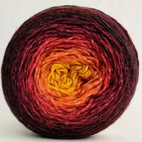 Knitcircus Yarns: Leaf Pile Leap 100g Panoramic Gradient, Opulence, ready to ship yarn