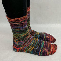 Knitcircus Yarns: Renegade Unicorn Abstract Matching Socks Set, dyed to order yarn
