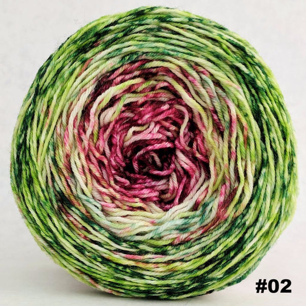 Knitcircus Yarns: Holly and Ivy 100g Impressionist Gradient, Greatest of Ease, choose your cake, ready to ship yarn