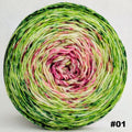 Knitcircus Yarns: Holly and Ivy 150g Impressionist Gradient, Trampoline, choose your cake, ready to ship yarn