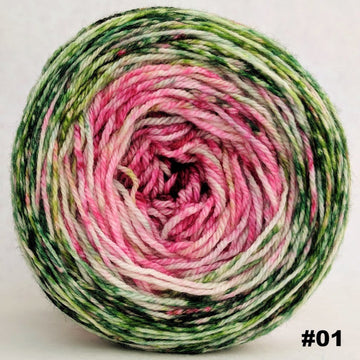 Knitcircus Yarns: Holly and Ivy 100g Impressionist Gradient, Opulence, choose your cake, ready to ship yarn