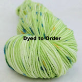 Easy Being Green Speckled Handpaint Skeins, dyed to order