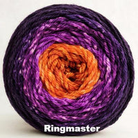 Knitcircus Yarns: Bewitched Panoramic Gradient, dyed to order yarn