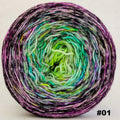 Knitcircus Yarns: Electric Mayhem 150g Impressionist Gradient, Opulence, choose your cake, ready to ship yarn