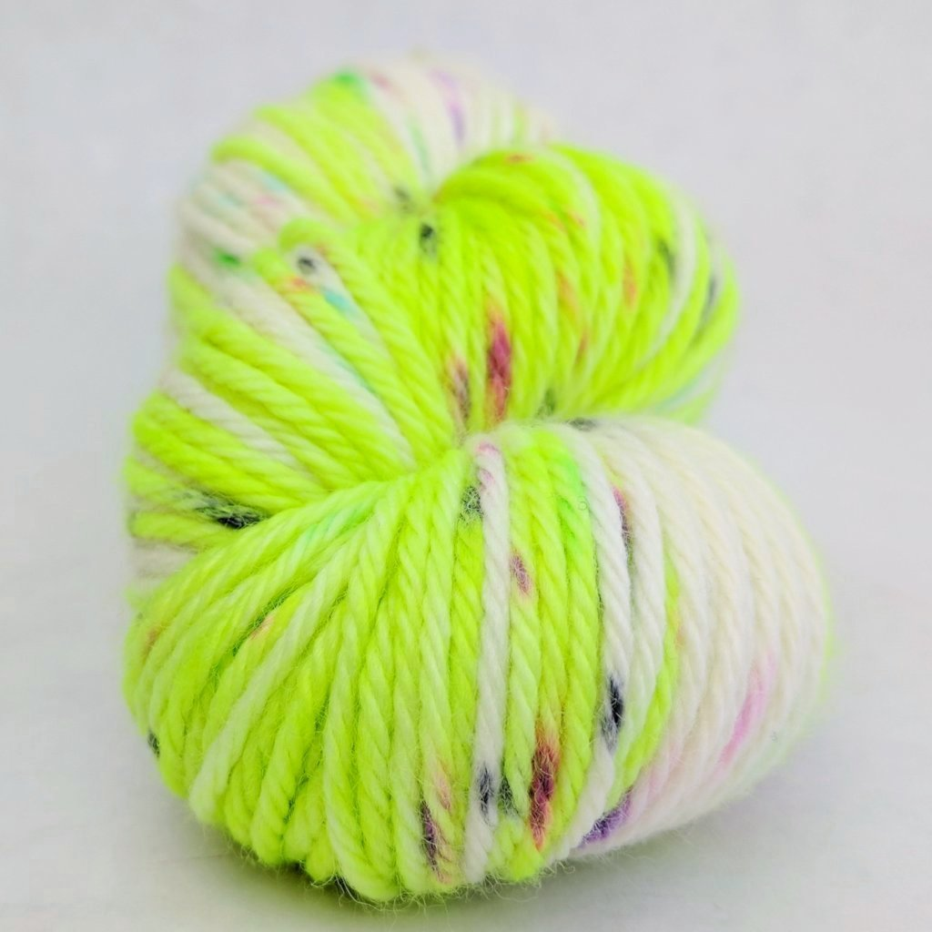 High Voltage 100g Speckled Handpaint skein, Ringmaster, ready to ship