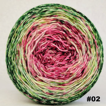 Knitcircus Yarns: Holly and Ivy 150g Impressionist Gradient, Greatest of Ease, choose your cake, ready to ship yarn