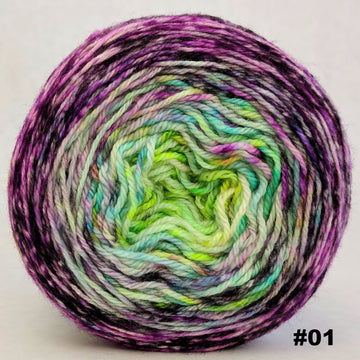 Knitcircus Yarns: Electric Mayhem 100g Impressionist Gradient, Opulence, choose your cake, ready to ship yarn