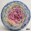 Knitcircus Yarns: Easy Peasy Lemon Squeezy 150g Impressionist Gradient, Parasol, choose your cake, ready to ship yarn