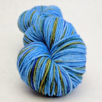 Knitcircus Yarns: Great Blue Yonder 100g Speckled Handpaint skein, Greatest of Ease, ready to ship - SALE