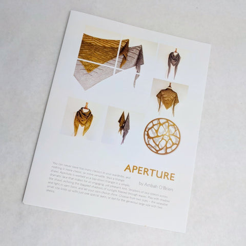 Pattern - Aperture, by Ambah O'Brien, ready to ship