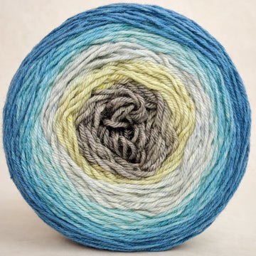 Knitcircus Yarns: Thanks For All The Fish 100g Panoramic Gradient, Parasol, ready to ship yarn