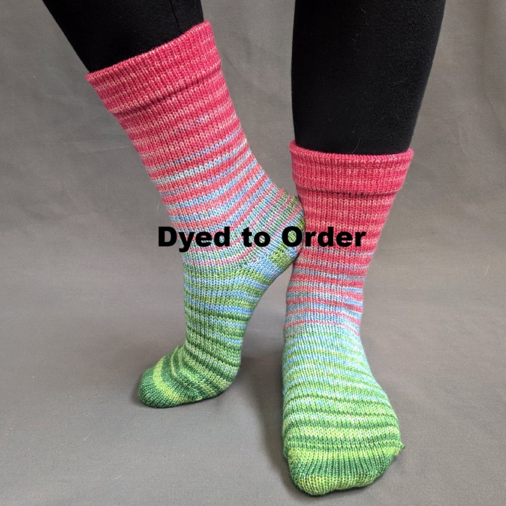 Merry and Bright Gradient Striped Matching Socks Set, dyed to order