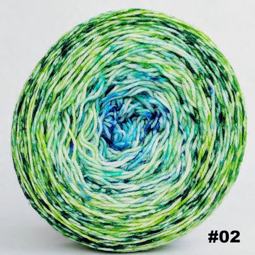 Knitcircus Yarns: Frog and Toad 150g Impressionist Gradient, Greatest of Ease, choose your cake, ready to ship yarn