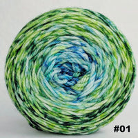 Knitcircus Yarns: Frog and Toad 150g Impressionist Gradient, Ringmaster, choose your cake, ready to ship yarn