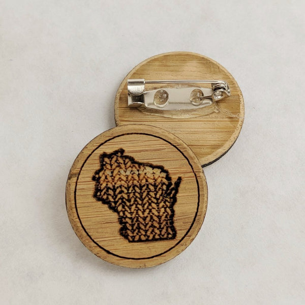 Wisconsin pin, small or large, ready to ship