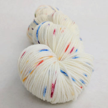 Knitcircus Yarns: Over the Rainbow 100g Speckled Handpaint skein, Greatest of Ease, ready to ship yarn