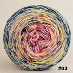 Knitcircus Yarns: Easy Peasy Lemon Squeezy 100g Impressionist Gradient, Trampoline, choose your cake, ready to ship yarn