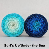 Knitcircus Yarns: Chromatic Pair Sets, Trampoline, choose your color and size, ready to ship yarn