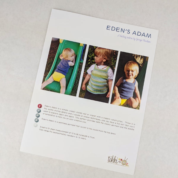Pattern - Eden's Adam Baby Vest, by Georgie Nicolson, ready to ship - SALE