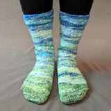 Frog and Toad Impressionist Gradient Matching Socks Set, dyed to order