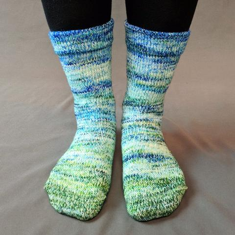 Knitcircus Yarns: Frog and Toad Impressionist Matching Socks Set (medium), Greatest of Ease, choose your cakes, ready to ship yarn