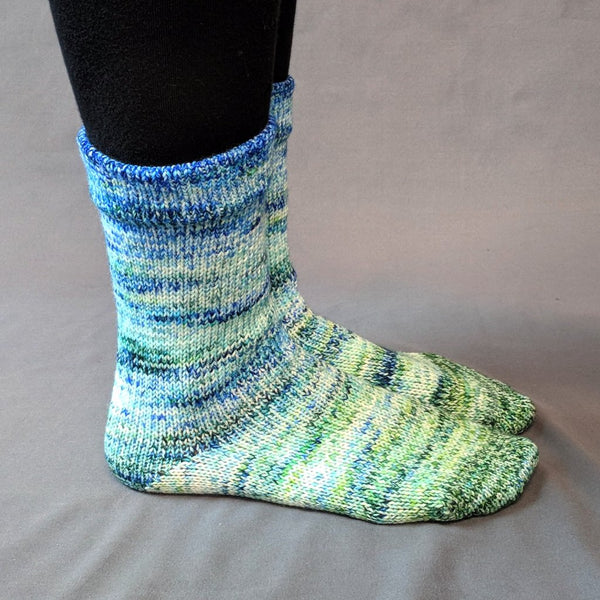 Knitcircus Yarns: Frog and Toad Impressionist Gradient Matching Socks Set, dyed to order yarn