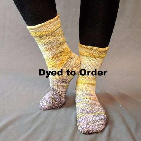 Brass and Steam Impressionist Gradient Matching Socks Set, dyed to order