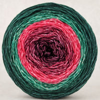 Knitcircus Yarns: Deck the Halls 150g Panoramic Gradient, Trampoline, ready to ship yarn