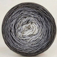 Knitcircus Yarns: Shades of Gray 100g Chromatic Gradient, Parasol, ready to ship yarn