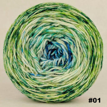 Knitcircus Yarns: Frog and Toad 100g Impressionist Gradient, Parasol, choose your cake, ready to ship yarn