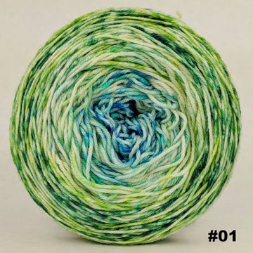Knitcircus Yarns: Frog and Toad 150g Impressionist Gradient, Parasol, choose your cake, ready to ship yarn