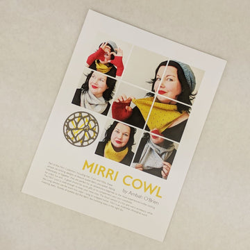 Pattern - Mirri Cowl, by Ambah O'Brien, ready to ship
