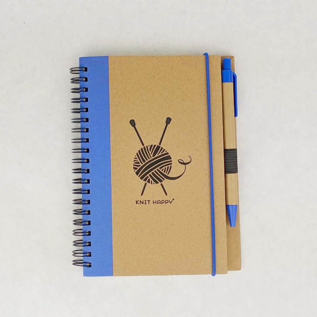 Knit Happy Eco Journal with Pen, various colors, ready to ship