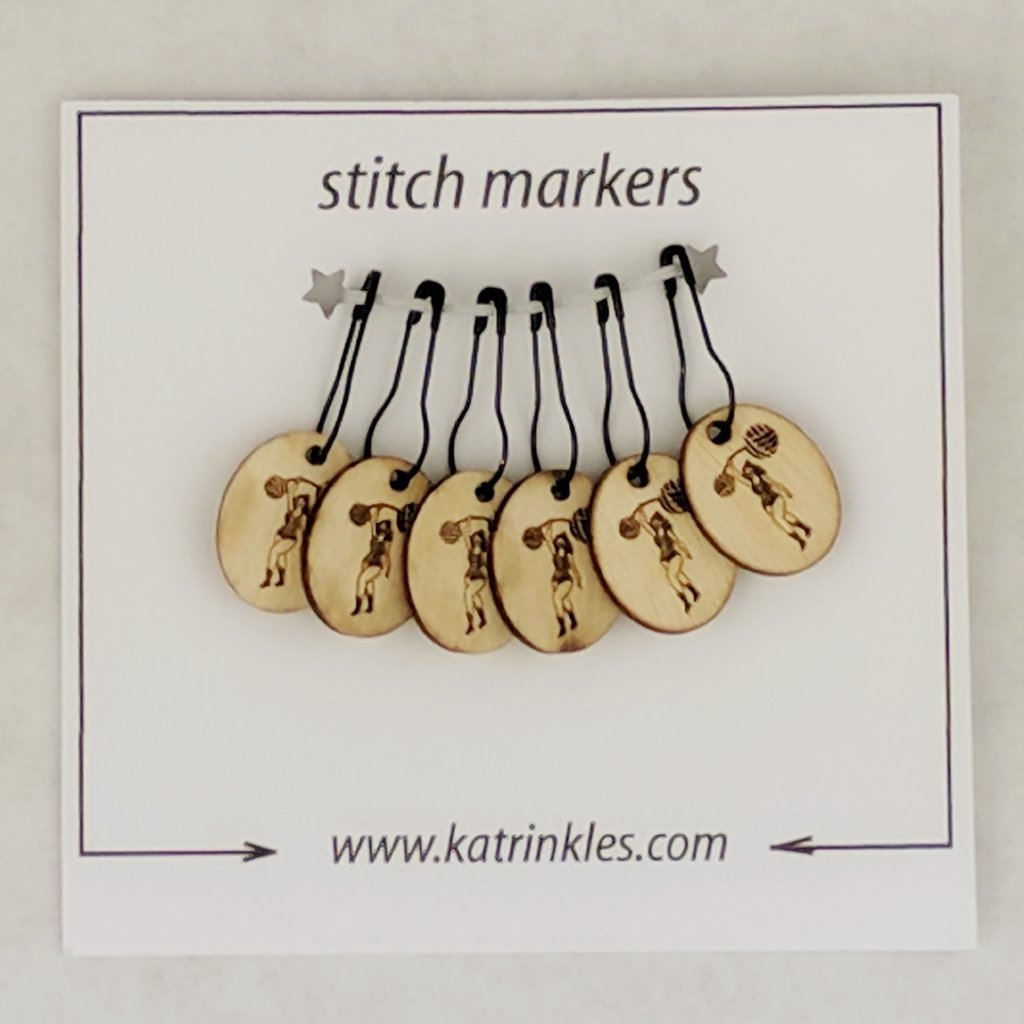 Knitcircus Strongwoman Logo Pin Markers, 6 pack, ready to ship