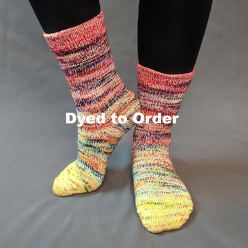 Knitcircus Yarns: Pippi Longstocking Impressionist Gradient Matching Socks Set, dyed to order yarn
