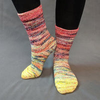 Knitcircus Yarns: Pippi Longstocking Impressionist Matching Socks Set (medium), Greatest of Ease, choose your cakes, ready to ship yarn