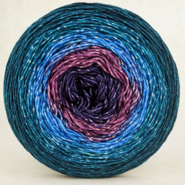 Knitcircus Yarns: Voyage of The Yarn Treader 150g Panoramic Gradient, Trampoline, ready to ship yarn