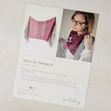 Pattern - Softly Spoken, by Janina Kallio, ready to ship