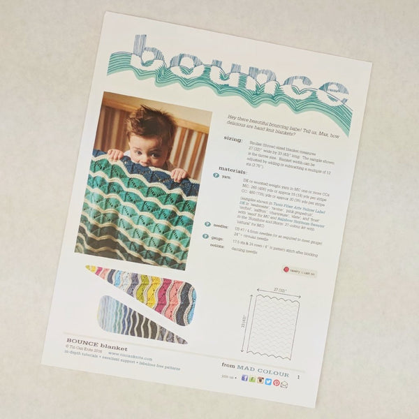 Pattern - Bounce Blanket, by Tin Can Knits, ready to ship - SALE