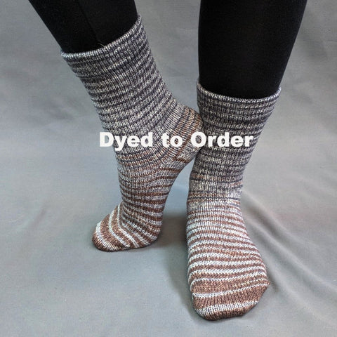 Have Fun Storming the Castle Gradient Striped Matching Socks Set, dyed to order
