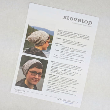 Pattern - Stovetop Hat, by Tin Can Knits, ready to ship
