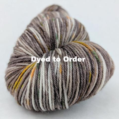 Knitcircus Yarns: Fire Swamp Speckled Handpaint Skeins, dyed to order yarn