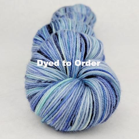 Ballyhoo Blue Speckled Handpaint Skeins, dyed to order