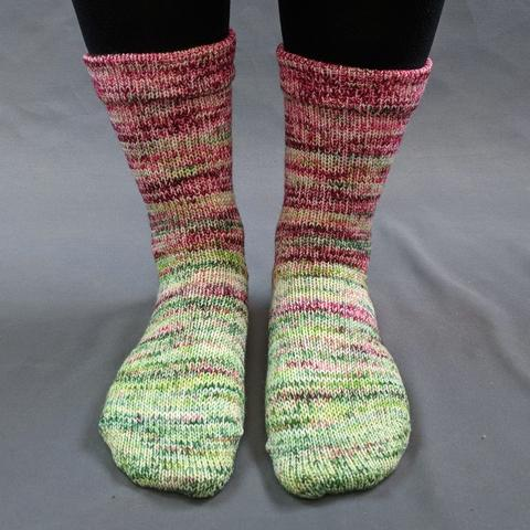 Holly and Ivy Impressionist Matching Socks Set (medium), Greatest of Ease, choose your cakes, ready to ship