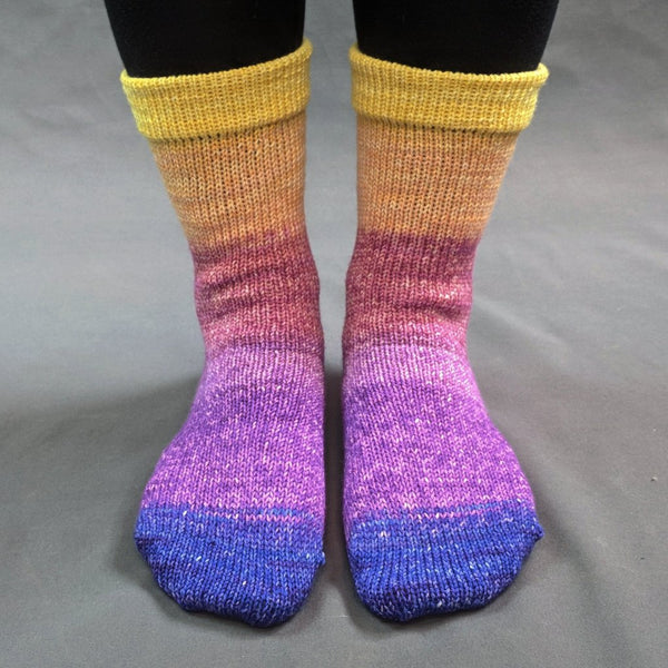 Knitcircus Yarns: Secret Garden Panoramic Gradient Matching Socks Set (medium), Greatest of Ease, ready to ship yarn