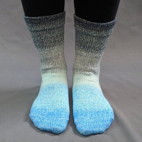 April Skies Panoramic Gradient Matching Socks Set (large), Greatest of Ease, ready to ship