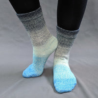 Knitcircus Yarns: April Skies Panoramic Gradient Matching Socks Set (large), Greatest of Ease, ready to ship yarn