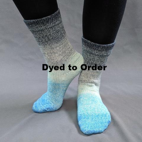 April Skies Panoramic Gradient Matching Socks Set, dyed to order